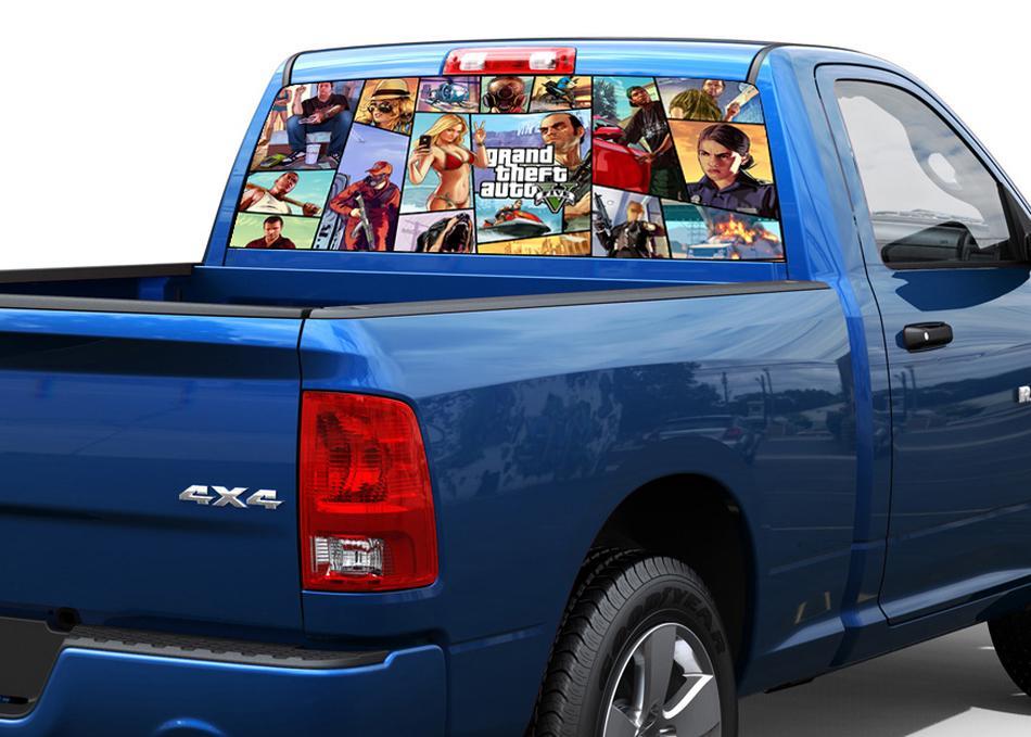 Gran Theft Auto 5 GTA Rear Window Decal Sticker Pick-up Truck SUV Car 2