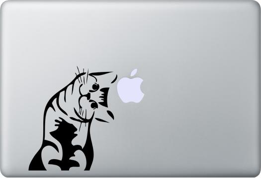 Miau Katze MacBook Aufkleber Aufkleber