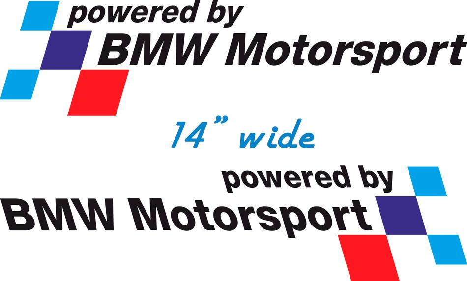 product pair bmw powered by bmw motorsport decal sticker. Black Bedroom Furniture Sets. Home Design Ideas