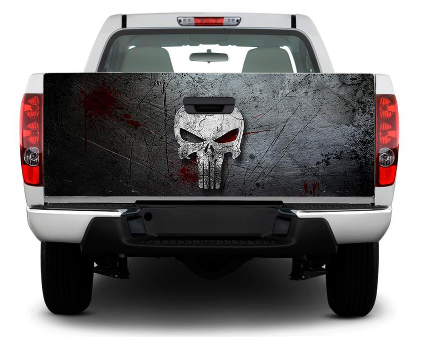 Product: Punisher skull Tailgate Decal Sticker Wrap Pick ...