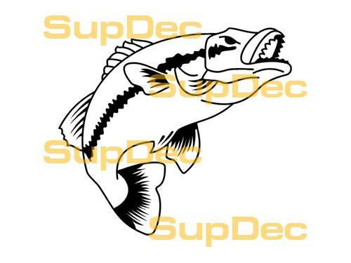 FISH Vinyl Art Wall  Window Bathroom Sticker Decal removable #6