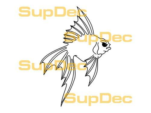FISH Vinyl Art Wall  Window Bathroom Sticker Decal removable #11