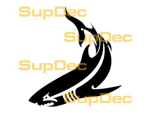Shark Vinyl Art Wall  Window Bathroom Sticker Decal removable #6