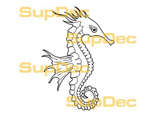 Seahorse Vinyl Art Wall  Window Bathroom Sticker Decal #4