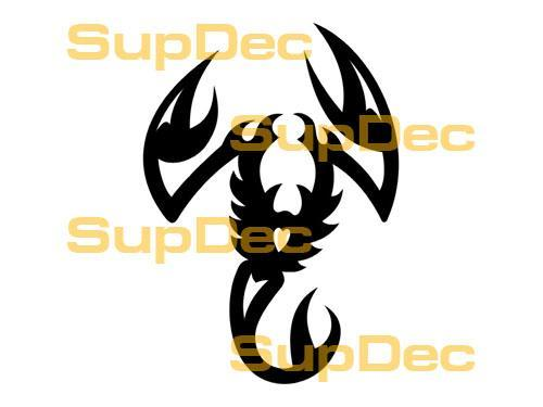 Scorpion Vinyl Art Wall  Window Bathroom Sticker Decal #3
