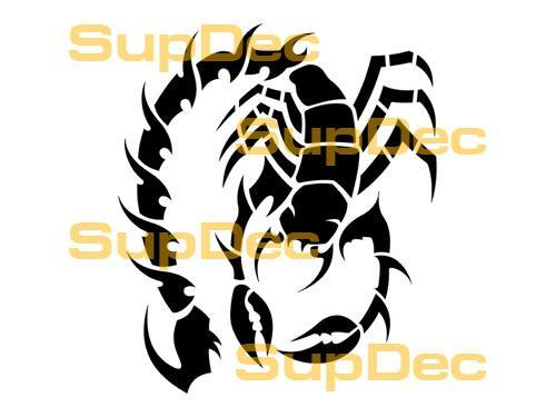 Scorpion Vinyl Art Wall  Window Bathroom Sticker Decal  #6