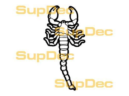 Scorpion Vinyl Art Wandfenster Badezimmer Aufkleber Aufkleber # 11