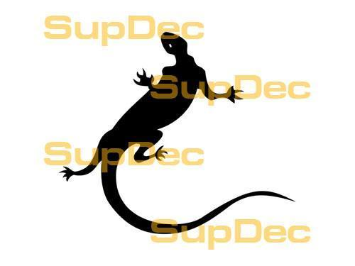 Gecko Lizard Vinyl Art Wall  Window Bathroom Sticker Decal #1