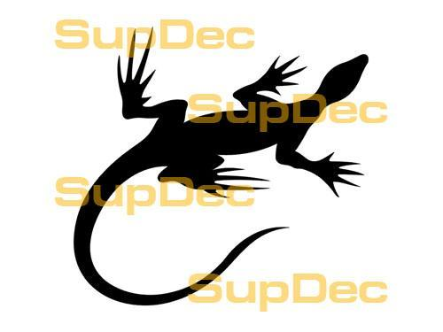 Gecko Lizard Vinyl Art Wall  Window Bathroom Sticker Decal #2