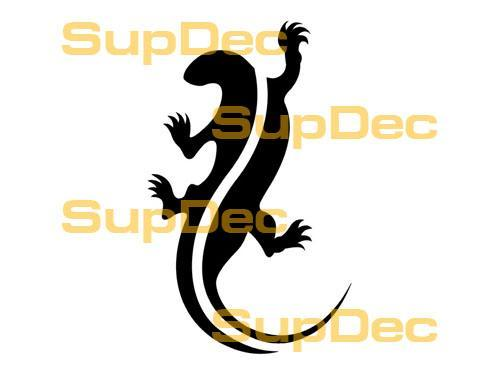 Gecko Lizard Vinyl Art Wall  Window Bathroom Sticker Decal #3