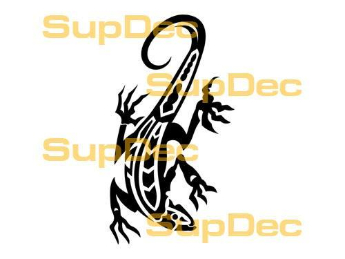 Gecko Lizard Vinyl Art Wall  Window Bathroom Sticker Decal #7