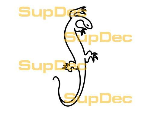 Gecko Lizard Vinyl Art Wall  Window Bathroom Sticker Decal #11