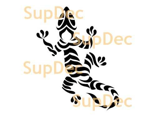 Gecko Lizard Vinyl Art Wall  Window Bathroom Sticker Decal #15