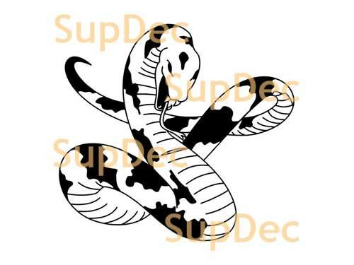 Snake Vinyl Art Wall  Window Bathroom Sticker Decal removable#12
