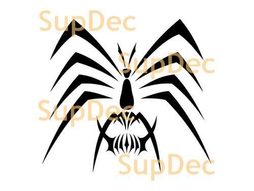 Spider Vinyl Wall  Window Bathroom Sticker Decal removable #8