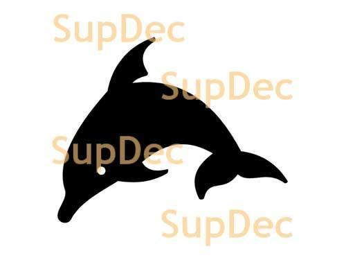Dolphin Vinyl Art Wall  Window Bathroom Sticker Decal #8