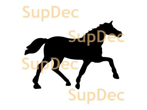 Horse Vinyl Art Wall  Window Bathroom Sticker Decal #1