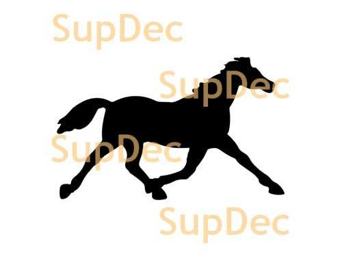 Horse Vinyl Art Wall  Window Bathroom Sticker Decal #2