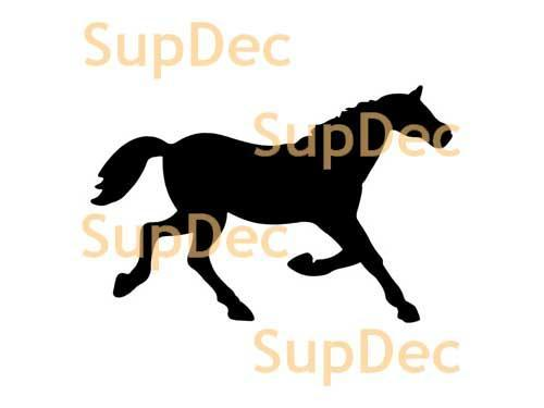 Horse Vinyl Art Wall  Window Bathroom Sticker Decal #4