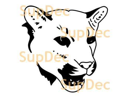 Tiger wild cat Vinyl Wall  Window Bathroom Sticker Decal #3