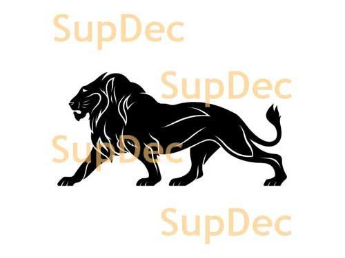 Lion Vinyl Art Wall  Window Bathroom Sticker Decal removable #1