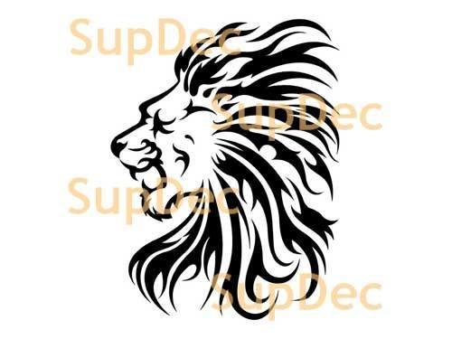 Lion Vinyl Art Wall  Window Bathroom Sticker Decal removable #2