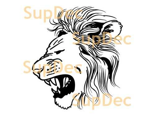 Lion Vinyl Art Wall  Window Bathroom Sticker Decal removable #3