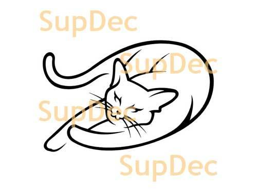 Cat Vinyl Art Wall  Window Bathroom Sticker Decal removable #7