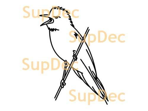 Bird Vinyl Art Wall  Window Bathroom Sticker Decal removable #18