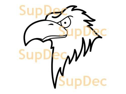 Eagle Vinyl Art Wall  Window Bathroom Sticker Decal removable #6