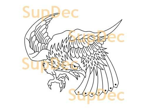 Eagle Vinyl Art Wall  Window Bathroom Sticker Decal removable #7