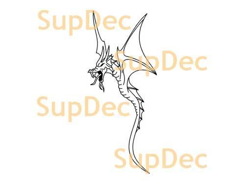 Dragon Vinyl Art Wall  Window Bathroom Sticker Decal #1