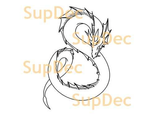 Dragon Vinyl Art Wall  Window Bathroom Sticker Decal #3