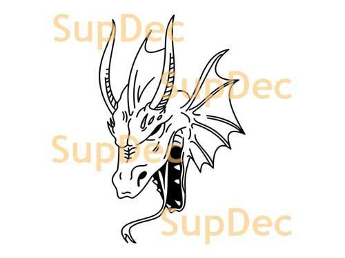 Dragon Vinyl Art Wall  Window Bathroom Sticker Decal #6