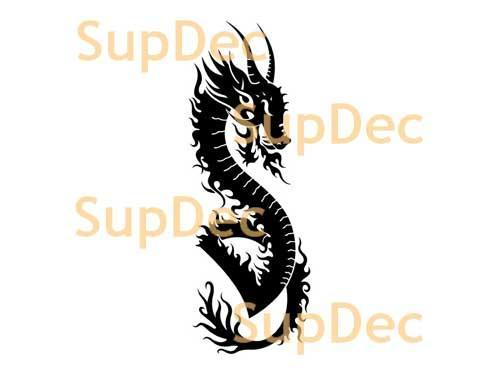 Dragon Vinyl Art Wall  Window Bathroom Sticker Decal #11