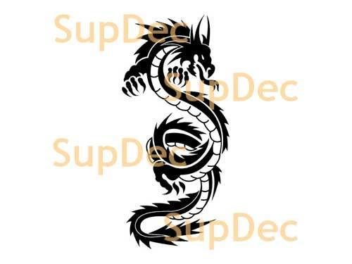 Dragon Vinyl Art Wall  Window Bathroom Sticker Decal #12