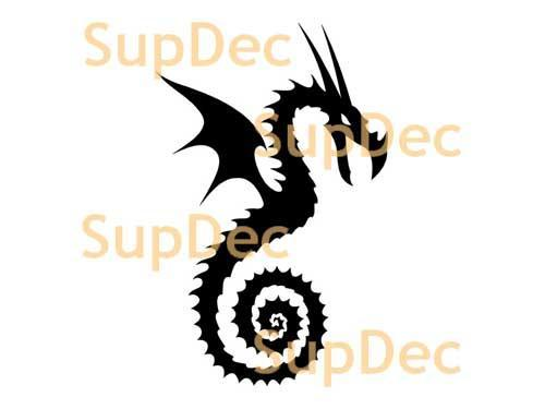 Dragon Vinyl Art Wall  Window Bathroom Sticker Decal #20