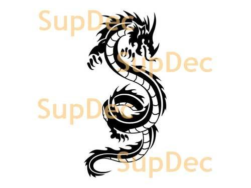 Dragon Vinyl Art Wall  Window Bathroom Sticker Decal #23