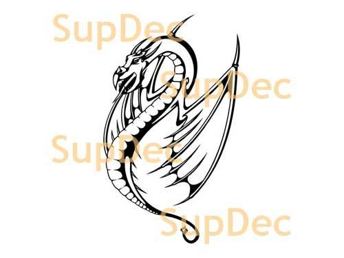 Dragon Vinyl Art Wall  Window Bathroom Sticker Decal #26