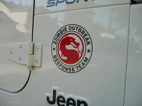 Jeep Rubicon Zombie Outbreak Response Team Wrangler Mortal Kombat Decal Sticker