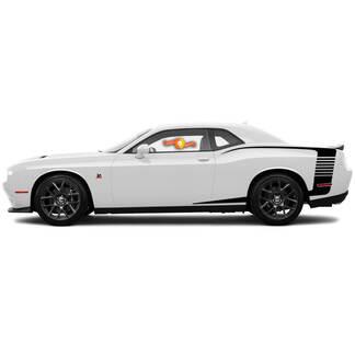 Voor 2015-2018 Dodge Challenger Reverse C Stripe Achter Kwart Side Stripes Decals