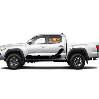 Paar Streifen für Tacoma Side Weißkopfseeadler Hawk Rocker Panel Vinyl Aufkleber Aufkleber passen zu Toyota Tacoma TRD Off Road Pro Sport