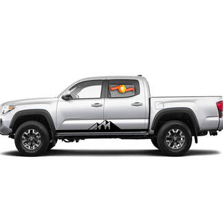 Pair Stripes for Tacoma Side Mountains Rocker Panel Vinyl Stickers Decal fit to Toyota Tacoma TRD Off Road Pro Sport