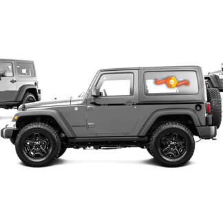 2 Waist Line Stripe Car Sticker Fit For Jeep Wrangler Graphics Decal
