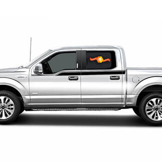 Ford F150 2009- 2014 Upper Side Bodyline Racing Rally Stripes Decals Graphics