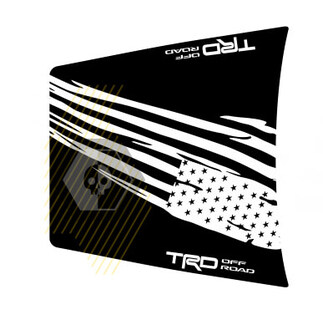 Riesige TRD 4x4 Off Road zerstört USA Flagge NO SCOOP! Hood Vinyl Stickers Aufkleber für Toyota Tacoma 2016 - 2020 Modelle