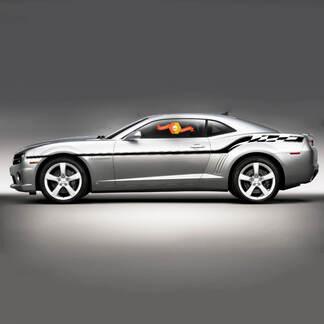 2010 2011 2012 2013 Chevrolet Camaro Karierte Flagge Akzent Seite Bodyline Streifen Aufkleber