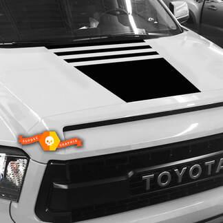 Hood Blackout Stripes Aufkleber - PASST 2007 - 2013 Toyota Tundra TRD