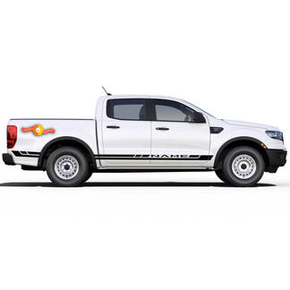 2019 2020 2021 Ford Ranger Decals RAPID Side Door Body Stripes Vinyl Graphics Kit