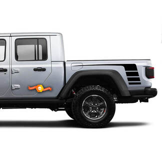 Decal Graphic Vinyl rear Side Bed Stripes For Jeep Gladiator JP 2019 2020 2021